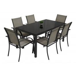 Gladstone spisegruppe lys m 6 stoler