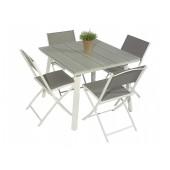 Scano 90 hvit med tasty stol