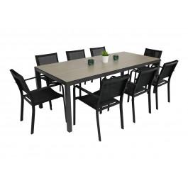 ST 4 bord og 8 Caribia stoler
