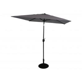 Fritid parasoll 2x2 azur grå