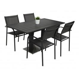 Kragerø bord antrasitt med 4 Liege