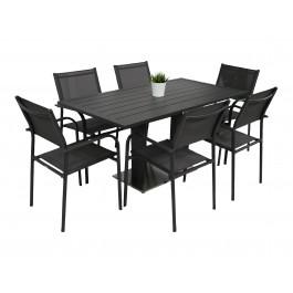 Kragerø bord antrasitt med 6 Liege
