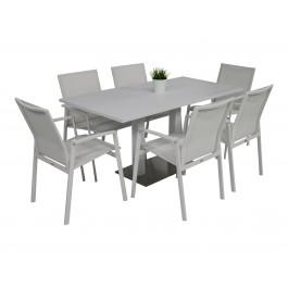 Kragerø bord hvit med 6 Achen