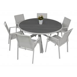 Scano 150d hvit med Achen stol