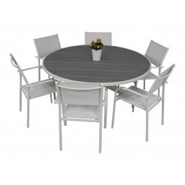 Scano 150d hvit med Liege stol