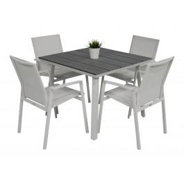 Scano 90 hvit med Achen stol