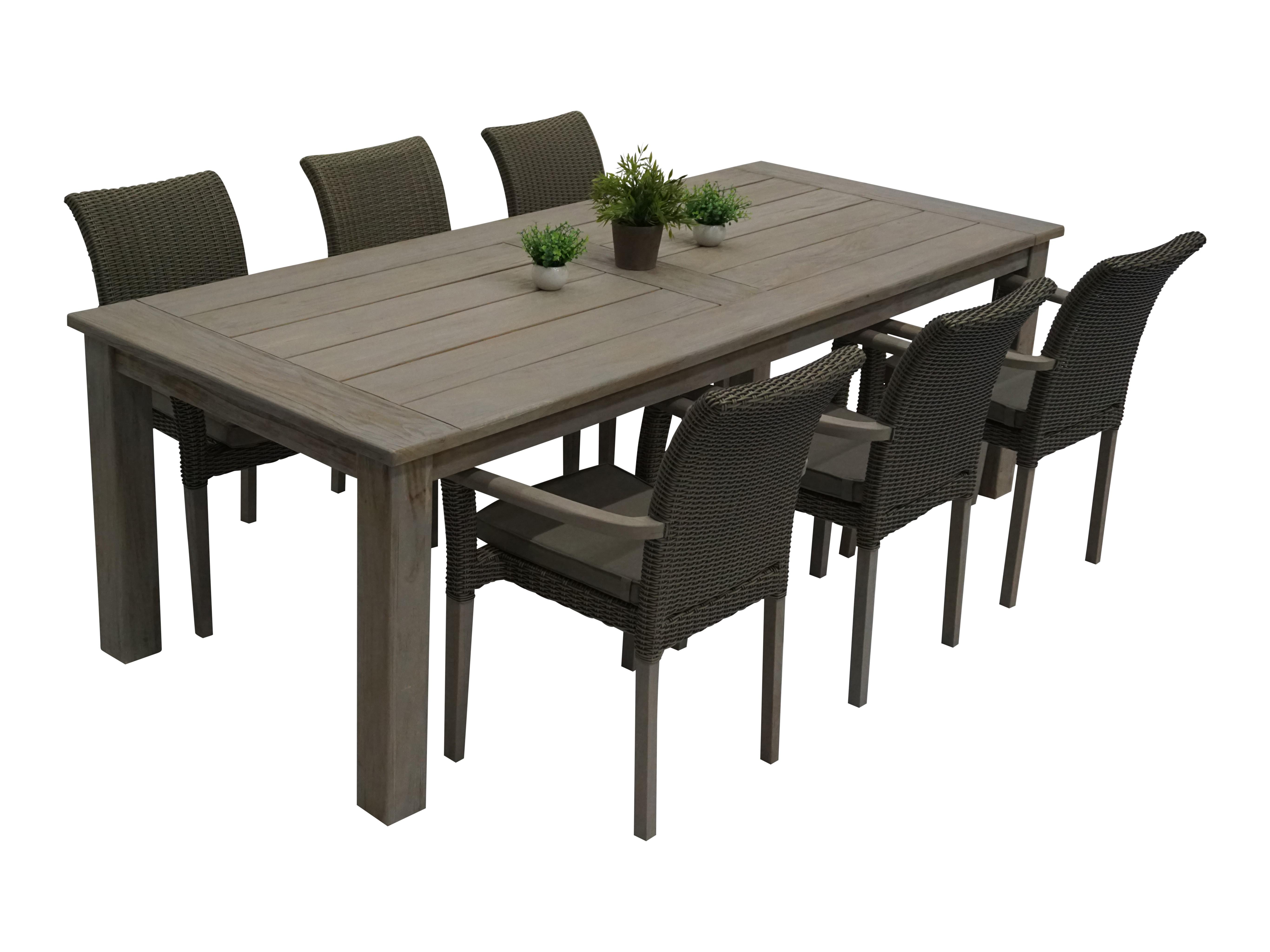 Rustic spisebord m 6 rustic stack - 6 personer - Spisegrupper ...