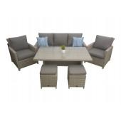 Arendal 5.0 sofagruppe lys grå med puff