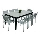 Dimond spisebord m 8 Caribia grå/hvit