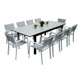 Dimond spisebord m 10 Caribia grå/hvit