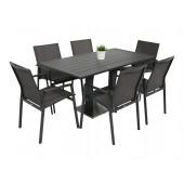 Kragerø bord antrasitt med 6 Achen