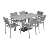 Kragerø bord hvit med 6 Caribia