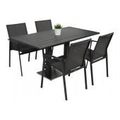 Kragerø bord antrasitt med 4 Achen
