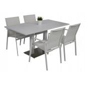 Kragerø bord hvit med 4 Achen