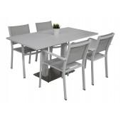 Kragerø bord hvit med 4 Caribia