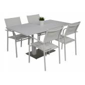 Kragerø bord hvit med 4 Liege