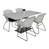 Kragerø bord hvit med 4 TAM