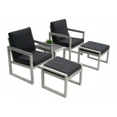 Postiano sidebord, stoler og fotstol