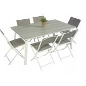 Scano 160 hvit med 6 tasty stoler
