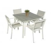 Scano 90 hvit med caribia stol