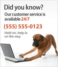 Vår kundeservice er tilgjengelig døgnet rundt.